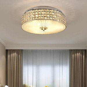 New design modern luxury circle D 50cm x H 17cm crystal chandelier lights led flush mount creative ceiling lamps for bedroom entryway