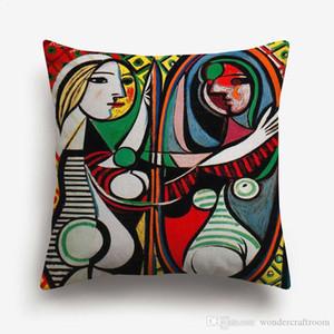 Pablo Picasso Paintings capas de almofadas Europeia abstrata moderna Pintura Cushion Cover Art Sofá de linho decorativa fronha de algodão