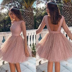 Curto A Linha Vestidos Homecoming para o Verão Espumante Lantejoulas 8th Grade Prom Dress Party Vestidos Vestido De Festa Vestidos de Formatura