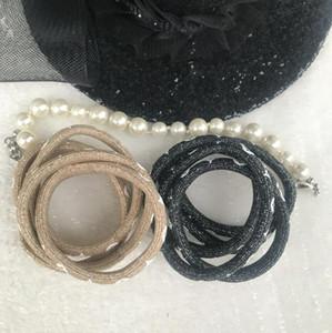 New brilhando cor símbolo da moda cabelo laços de moda impressos cabelo elástico pulseiras cabo coleção de acessórios de luxo presente hairband