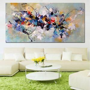 컬러 블록 191005 페인팅 거실 침실 홈 인테리어 캔버스를 들어 벽 그림을 그리기 캔버스에 추상 미술 유화