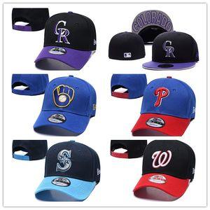 НОВЫЕ Пивовары Бейсболка Скалистые шляпы Филлис Snapback фуражка Вся команда дизайнер шляпа прямая поставка