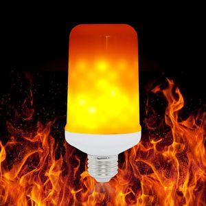 E27 LED dinámico llama efecto bulbo del maíz 3 modos de CA 85-265V parpadeo Emulación decoración lámpara creativa de incendios Luces Lamparas