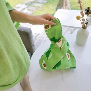 Casual Simple Cotton Fabric Carry Bag New Fruit Printing Small Fresh Handbag Wild Multi-function Shopping Bags Bolsos Mujer