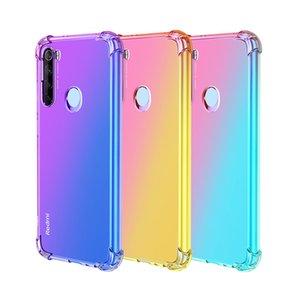 Quatre d'angle de l'air clair dégradé de cas pour Xiaomi Mi Mix 4 10 9 8 Lite 9SE CC9 CC9E A3 A2 redmi Note 10 8 7 6 5 8T K20 Pro 7A 8A
