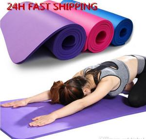 Frete grátis 183 * 61 centímetros NBR Yoga Mats perder peso cor sólida Anti-skid Ginástico Esporte saúde de alta qualidade