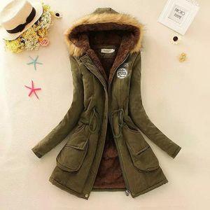 Womens Parka Casual Outwear Autumn Winter Military Hooded Coat Winter Jacket Women Fur Coats Women's Winter Jackets And Coats