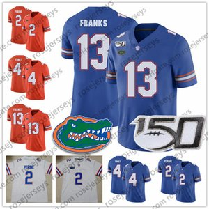 2019 Florida Gators # 13 Feleipe Franks 2 Lamical Perine 1 Kadarius Toney 5 Emory Jones 15 Jacob Copeland Blue Orange White 150TH Jerseys