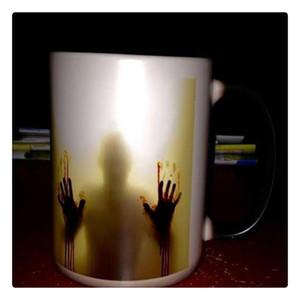 The Walking Dead Zombies Ceramica Sensibile al calore Cambiamento di colore Caffè Tè Tazza Freddo Nero Caldo Bianco Vendita calda