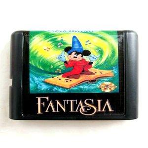 Fantasia 16 SEGA Genesis Megadrive için Sega Mega Drive 2 için MD Hafıza Kartı ısırdı