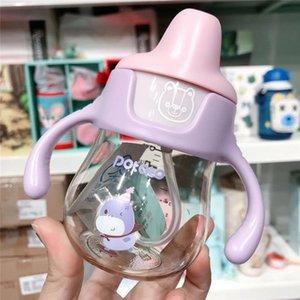 duckbill infantil copo bebendo aprendizagem copo PPSU material de drop-resistente com escala de bebê pega