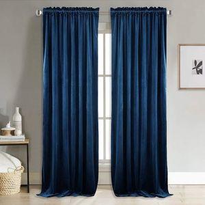 Modern Sólidos Velvet cortinas Blackout para Sala Quarto macio e confortável Blinds do Windows Cortina de tamanho personalizado Plain Porta Nova