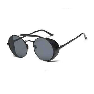 Gafas de sol redondas y frescas para mujeres Gafas Steampunk película en color espejo rana gafas de sol personalizadas gafas de sol viento
