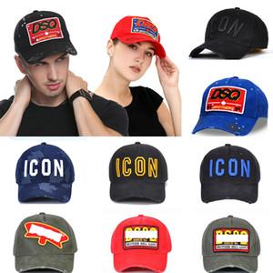 dsquared2 d2 ds2 dsq2 chapeau broderie ICON lettres coton icône Baseball Caps de haute qualité Hommes Femmes Designer d2 Cap Noir Chapeau de papa d'été Loisirs Voyage Cap 25sa4