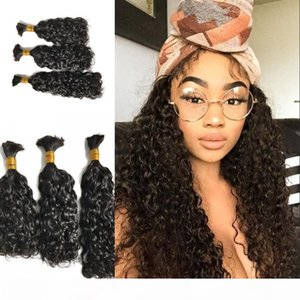 Water Wave Hair Bulk Peruvian Mongolian Indian Cambodian Human Hair for 3 Bundles Hair Extensions No Tangle No Shedding FDSHINE