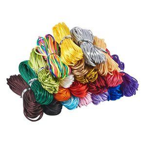 200yards / setin 1mm Mix Renkler Naylon Kordon Takı Konu Çince Knot Makrome Kordon Bileklik örgülü Dize DIY Püsküller Kornişleme