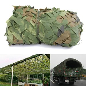 1.5X10m Woodland Leaves Red de camuflaje Sun Shelter Army Camo Hunting Camp Cover Net