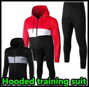 2019 2020 Homem de futebol survêtement jaqueta terno treinamento Jersey tracksuits 19 20 Estados com capuz treino de futebol conjunto do hoodie manchester