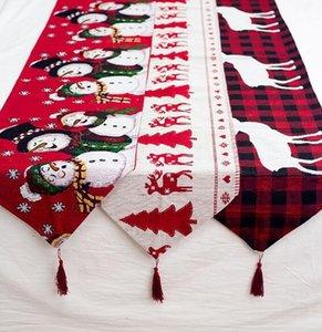 جديد عيد الميلاد زخرفة السلع القطن والقنب التطريز عيد الميلاد العلم الإبداعي الأوروبي عيد الميلاد الشاي الجدول الديكور سطح المكتب