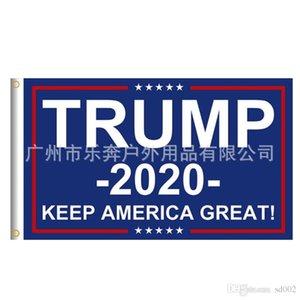 Trump 2020 Drapeau Campagne Tuba numérique Mots anglais Transfert Thermique Imprimé toutes sortes de drapeaux Nouvelle arrivée 13lbE1