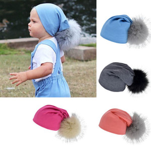 Unisex-Baby-Kind-Mädchen-Jungen Warm Pompom-Ball-Hut Neugeborenes Beanie Cap Furry Nette Cotton Baby Hat 1-4Y