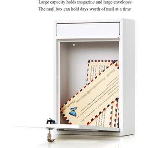 Außen Abschließbare Wand befestigte Hängeeisen Pfosten Briefkasten Mailbox mit Key Passwort Mailbox Außen Letterbox Außenwand Boxe