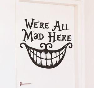 ساخنة جديدة هالوين مجردة جدار ملصقا الكرتون لdecoratiing الباب شريط مطعم أو استخدام نافذة تزيين لحزب بيت