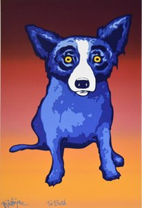 George Rodrigue Blue Dog Second Line Home Decor Handbemalte HD-Druck-Ölgemälde auf Leinwand-Wand-Kunst-Leinwandbilder 200116