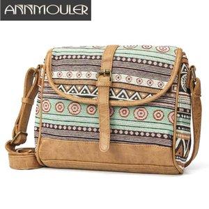 Annmouler Design Femmes Sac à bandoulière en tissu sac à main style bohème Sac bandoulière dames Messenger Petit sac
