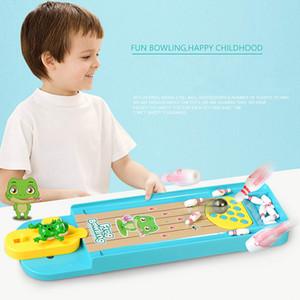 WJ1041X2 İnteraktif oyuncak, mini kurbağa bowling salonu masa oyunu anaokulu eğitici oyuncak fırlatma rampası bowling topu İstihbarat oyuncaklar