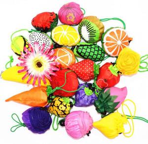 DHL'in 200pcs Sevimli Faydalı Mix Meyve Karpuz Pitaya Katlanabilir Eko Yeniden kullanılabilir Alışveriş Çantaları