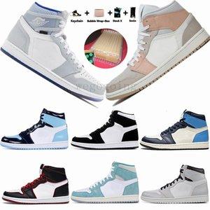 1 High Travis Scotts Low Paris Mens Basketball Chaussures Twist UNC Zoom Racer Bleu Mid Milan Obsidian intrépides femmes Styliste de sport Chaussures de sport