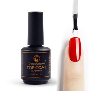 Fengshangmei clavo 15ml Top Coat Sin Wipe gel UV barniz sellador claro brillante del gel del clavo Diamond Top Coat