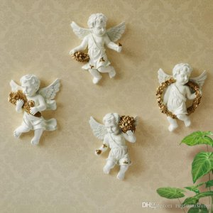 artigos de decoração estilo europeu pequeno anjo terno parede pendant novidade anjo resina fundo ofício parede decorações de luxo de 4 peças