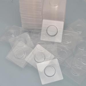 100pcs Wholesale freie quadratische Lash Wannen aus Kunststoff Transparent Blank Wimper-Behälter-Halter für Wimper Verpackung Box-Kasten-Behälter