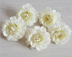 Sonbahar Rhododendron Çiçekler simüle Küçük Tea Rose Başkanı Düğün Bilek Çiçekler Avrupa Şakayık WL263 Heads Yapmak
