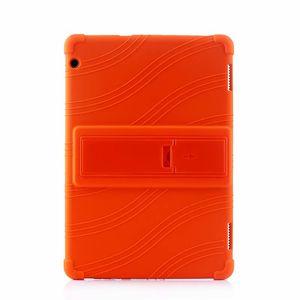 Huawei MediaPad Onur Tablet 5 AGS2-W09HN 10.1 inç Tablet için 50pcs Yumuşak Silikon TPU Arka Kapak Kılıf Standı