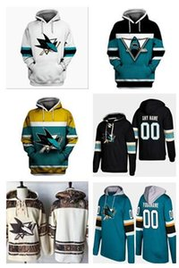 2020 Nueva San Jose Sharks Jersey con capucha del hockey 8 Joe Pavelski 9 Evander Kane 39 Logan Couture 65 Erik Karlsson 88 Brent Burns Pullover suda