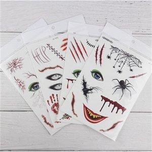 Christmas Face И Шрам татуировки наклейки Хэллоуин цветок наклейки Интересные лица Paste Унисекс партии День рождения Поставка 0 9rc H1