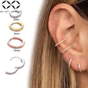 كريستال أقراط ثقب للمرأة جولة الصغيرة الأذن الكفة روز مطلية بالذهب حجر الراين كليب أقراط الحلي Z4
