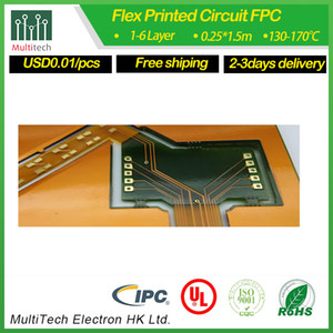 Clear coverlay with green solder mask for 2layers FPC made in China by Multitech PCB company low price fast shipping