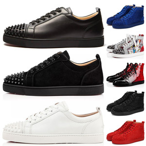 ACE Luxury Fashion Designer Марка Шипованные Шипы Плоская обувь Обувь с Красным Дном повседневная Обувь Мужчины Женщины Любители вечеринок Натуральная кожа Кроссовки