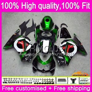 OEM Injection For KAWASAKI EX250 ZX250 R 08 09 10 11 12 24HM.0 ZX 250R EX250R EX 250 R ZX250R 2008 2009 2010 2011 2012 Fairing Green black