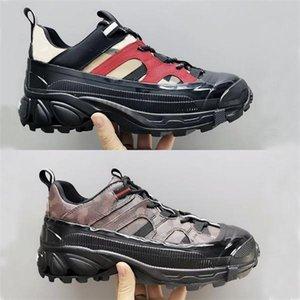Luxus-Frauen-Weinlese Arthur Sneakers TB Printed Plattform Runway Trainer Mode Prüfungs-Baumwoll 9 Farben hochwertige Designer-Schuhe mit Box