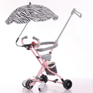 Kidlove Grande Roda Carrinho De Criança De Peso Leve Compact Dobrável Mão Empurrar Carrinho De Bebê