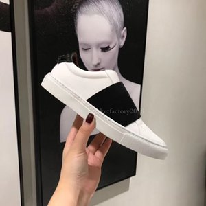 Cuero de lujo de la zapatilla de deporte Hombres Mujeres Casual top Italia Marca rayas zapato para caminar entrenadores deportivos Chaussures Pour Hommes