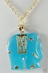 Bijoux en jade couleur naturelle jade éléphant pendentif collier livraison gratuite chaîne libre