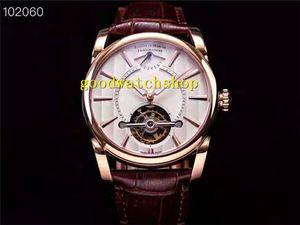 Лучшие Tonda PFH251 Роскошные мужские часы Real Tourbillon ручной намотки механические розовое золото наручные часы Power Reserve Дисплей сапфировое