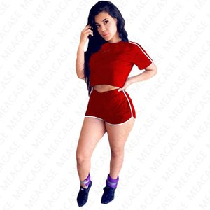 Women Tracksuit brand Letter printed Two Piece Outfits Short T Shirt Crop Top Shorts Sets Summer Casual Sport Suit S-XXXLHot SALE NK7201