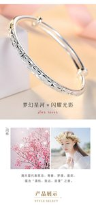 Filigree silver bracelet female 9999 sterling silver solid silver bracelet young fashion silverware for girlfriend gift